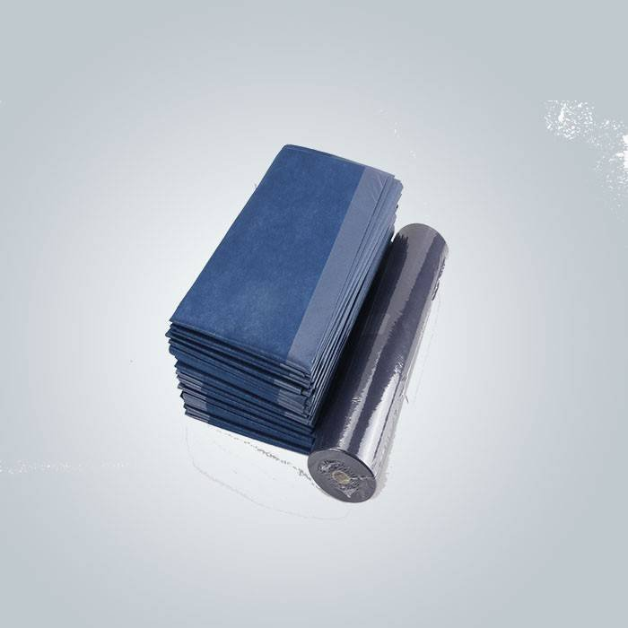 Function Antibacterial Blue Color Laminated Non Woven Fabric Used For Bedsheet