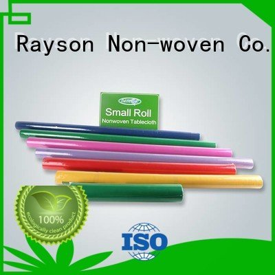 rayson nonwoven,ruixin,enviro paper 60gr disposable table cloths covering toxic