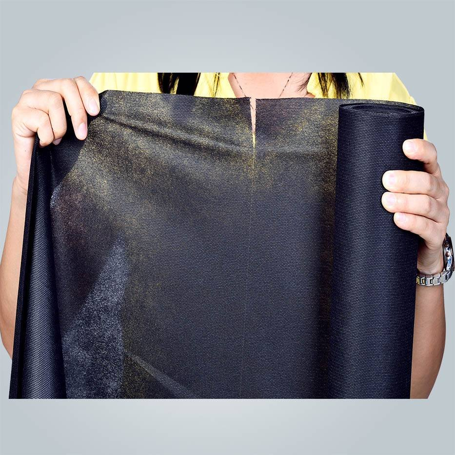 100%plyester Black spunbond  Nonwoven fabric supplier