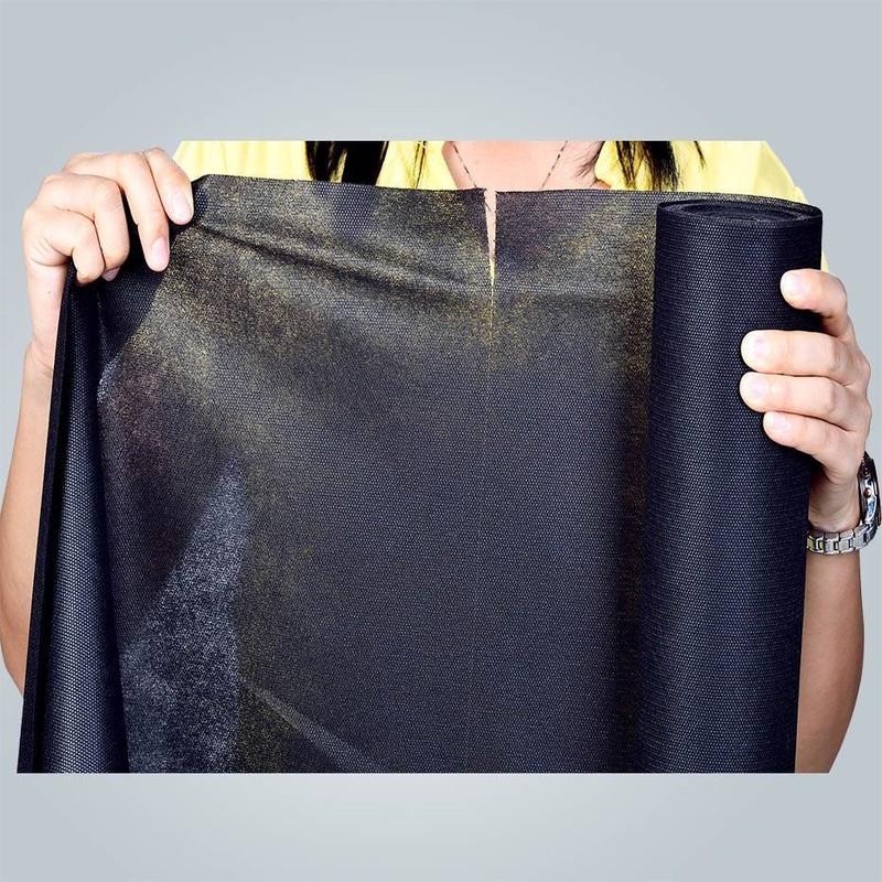 Fournisseur de tissus 100 % Plyester spunbond noir non tissé
