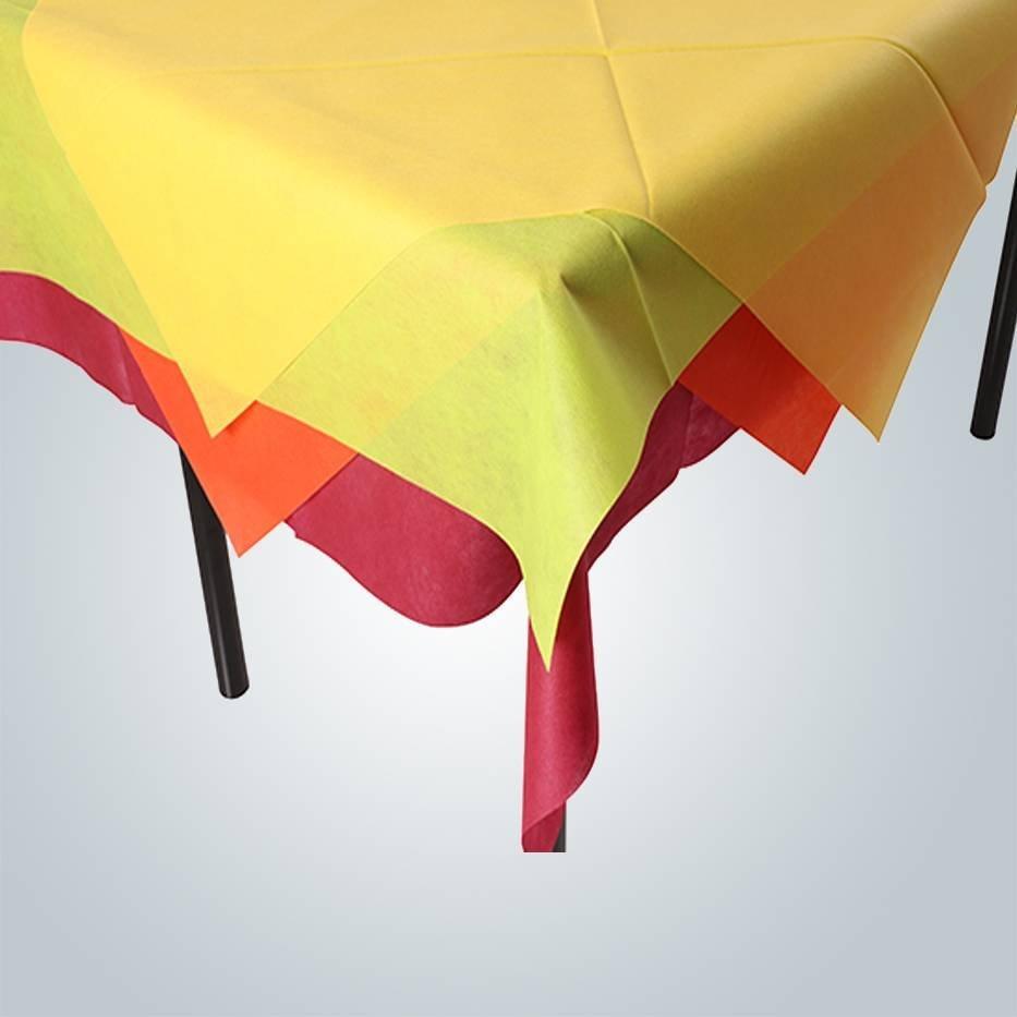 square non woven table cloth