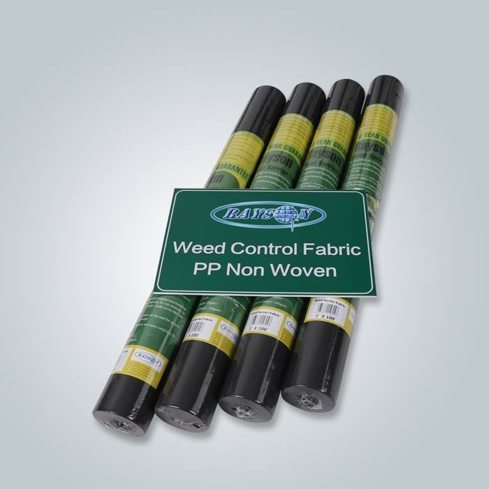 Black color weed control landscape fabric with hydrophilic water pemeability