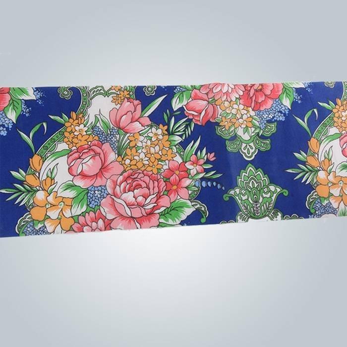 90 gramos impresa pp spunbond no tejida tela fabricación colchón cubierta