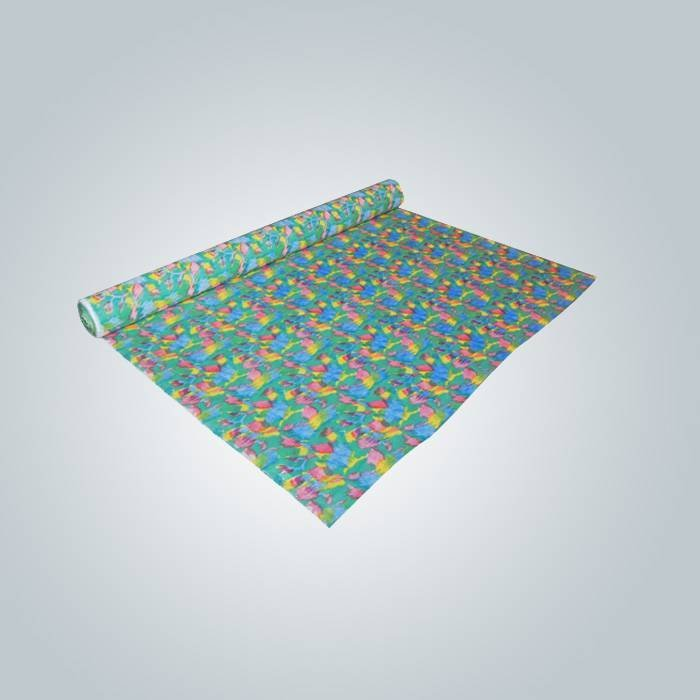 OEM डिजाइन पॉलीप्रोपाईलीन nonwoven कपड़े मुद्रित सामग्री पैकिंग के लिए