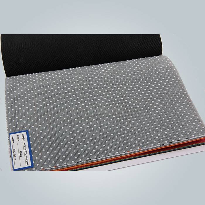 150gram black pvc dot anti slip non woven for mattress cover