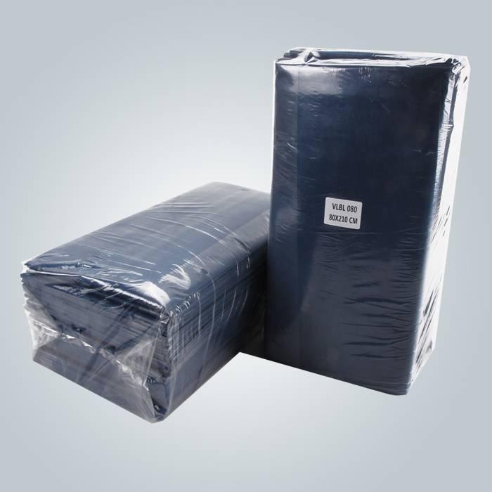 Bleu foncé stratifié drap de papier Non tissé pour Massage