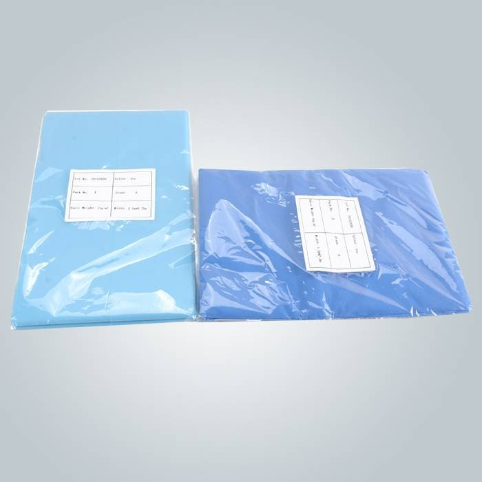 perforated pp non woven bed sheet for salon spa