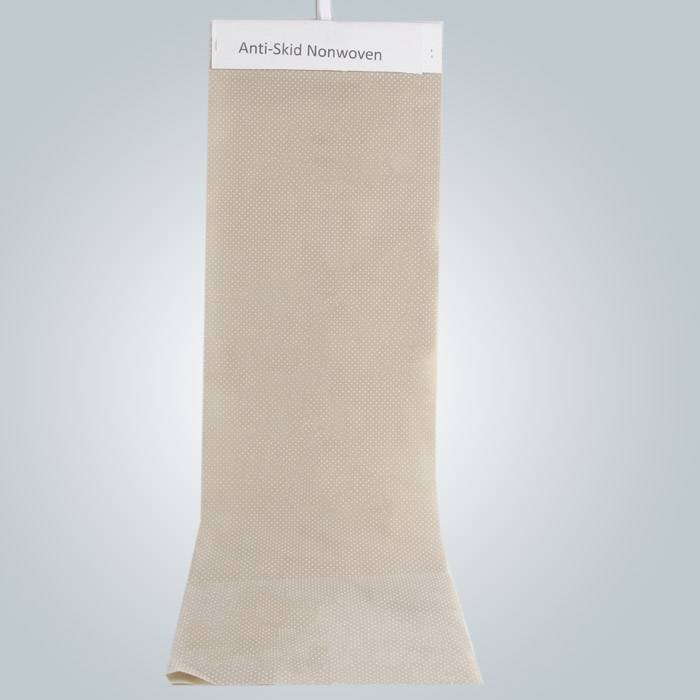 PVC Dotted Anti Slip Fabric Nonwoven Anti Skid Fabric Use In Slipper