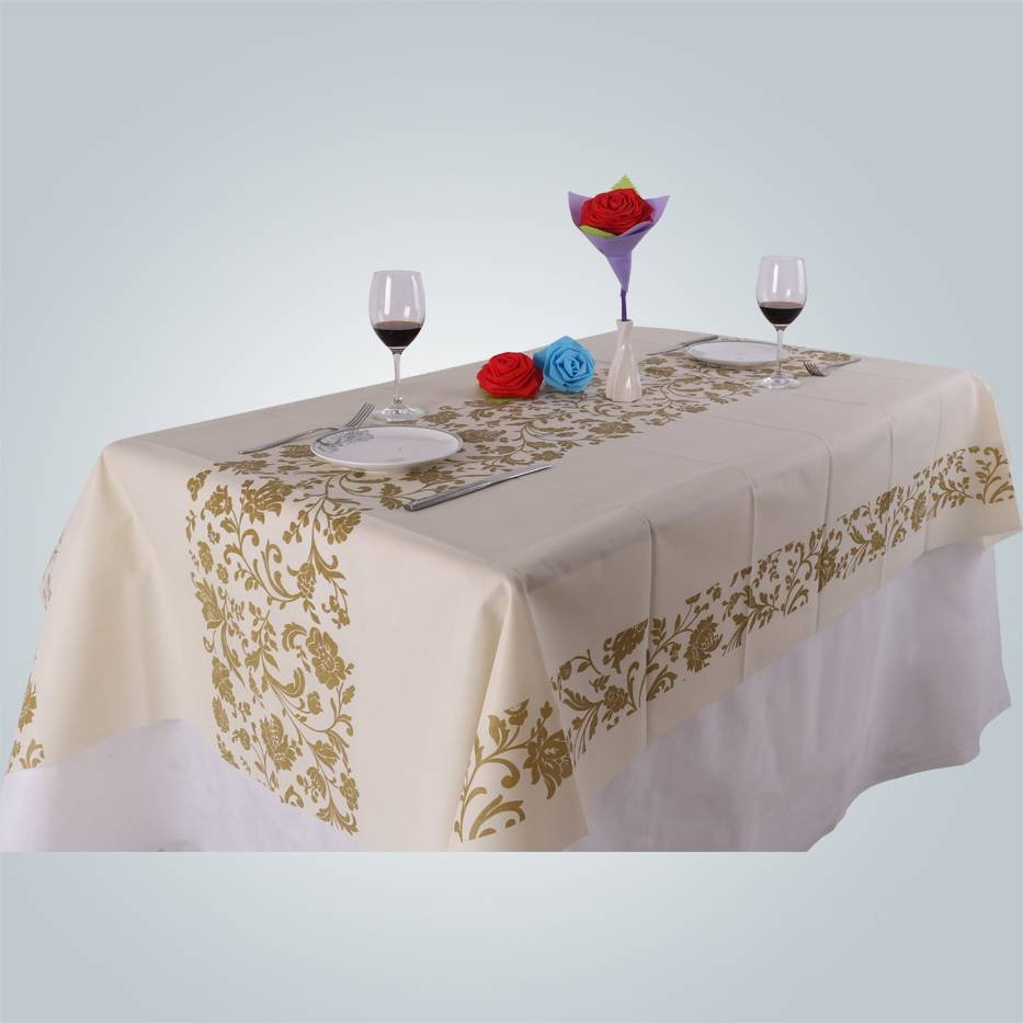 Logo printing non woven folded tablecloth 60gsm