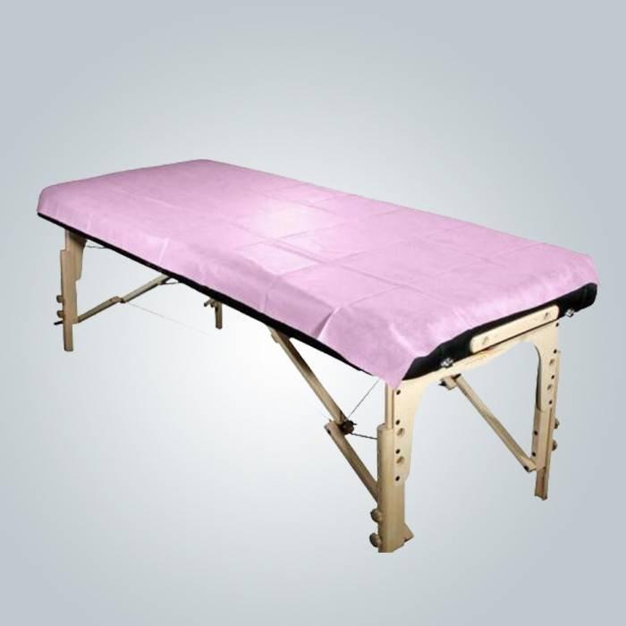 Salão de beleza Waterproof Non Woven Bedsheet