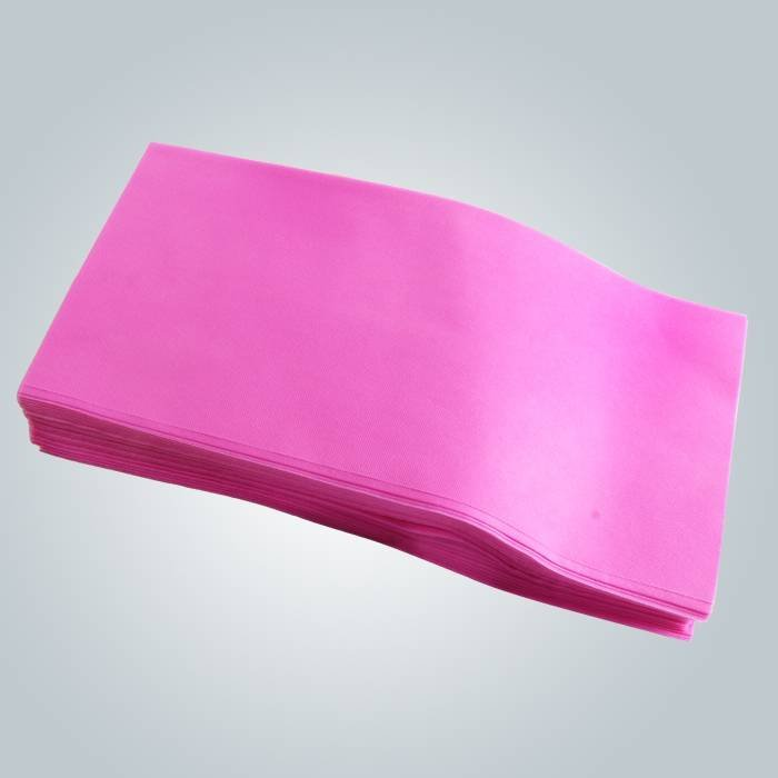 Pink Color Disposable Couch Cover Bedsheet In Pieces For Spa
