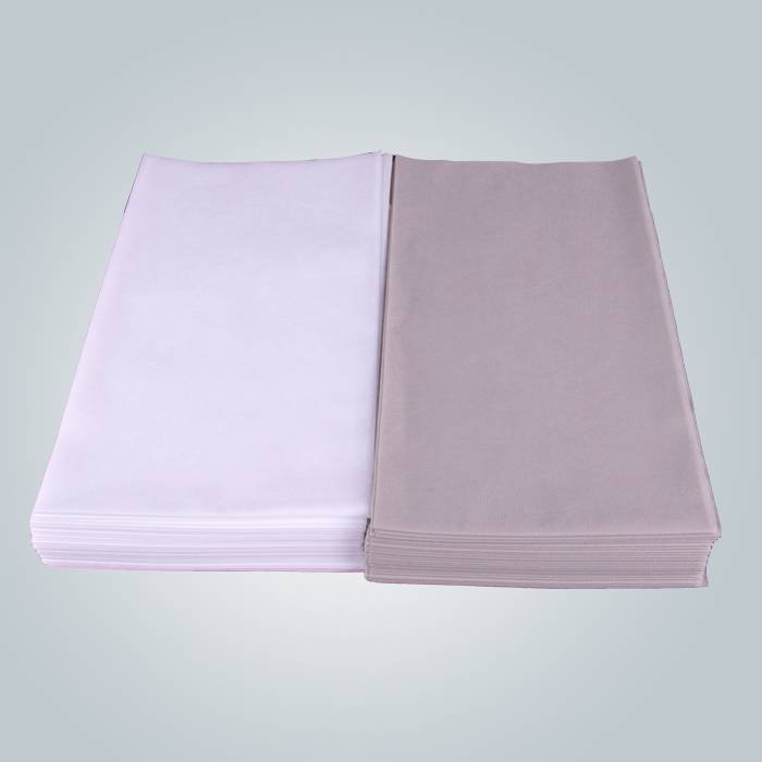Medical Care Disposable Bedsheet White and Grey Color Non-woven Flat Bedsheet