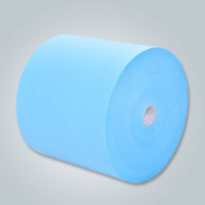 SGS एसजीएस प्रमाणित हल्के नीले रंग पानी शोषक Spunbond Nonwoven कपड़े