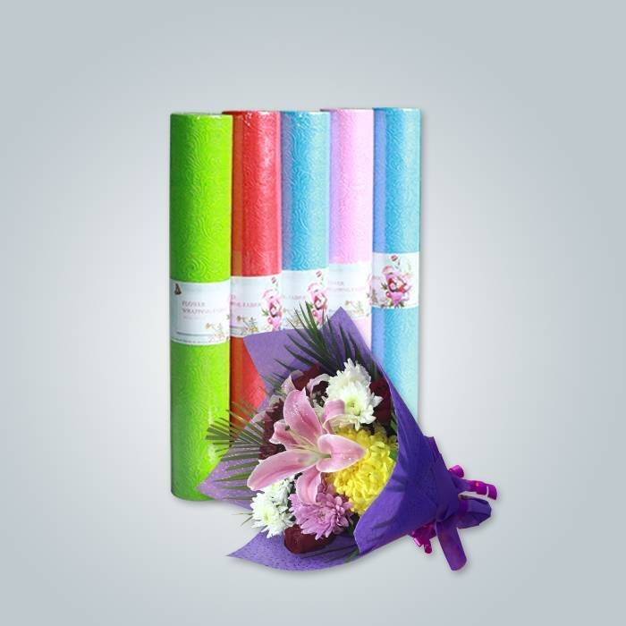 Non woven fabric for flower wrapping with flower pattern