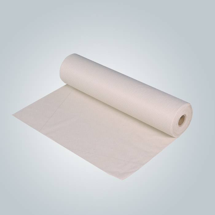 Beige / grey 90gram anti slip non woven fabric for mattress