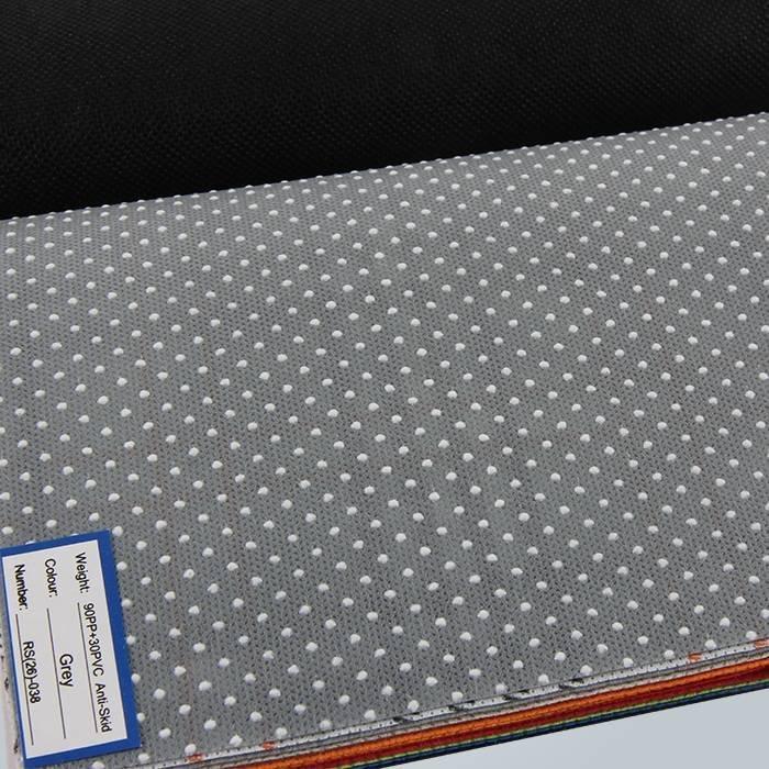 Tissu antidérapant non tissé antidérapant pointillé par PVC de pantoufle