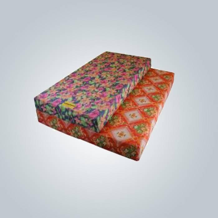 80 gramos impreso a tela no tejida para la cubierta de colchón de espuma