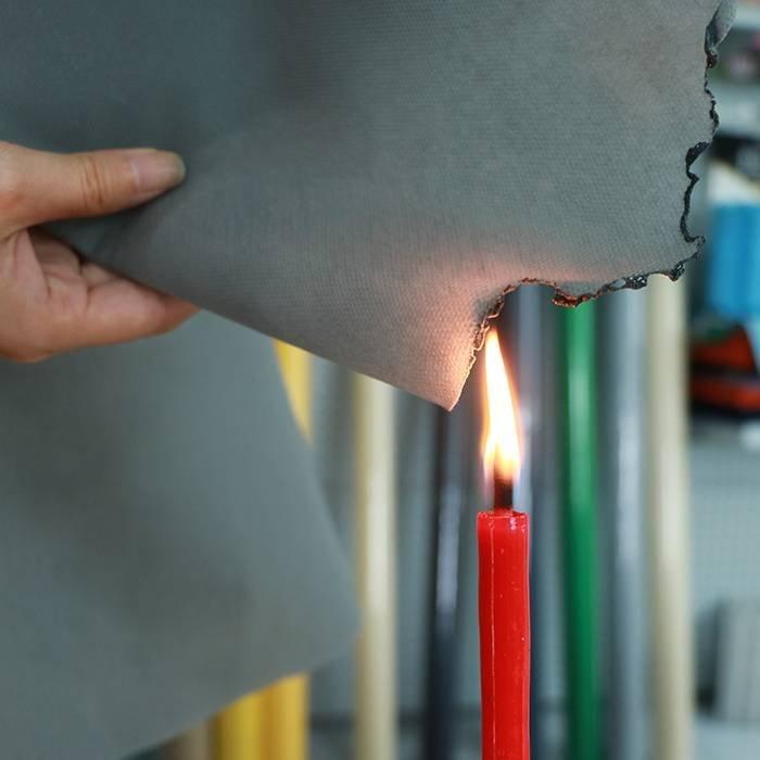 UK standard fire retardant nonwoven material / spunbond fabric