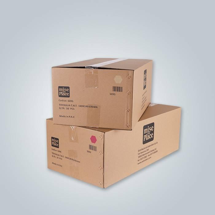 Carton packing 47gr non woven table cloth