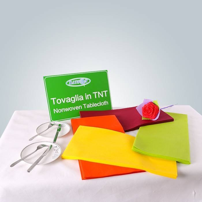 Colorful non woven table cloth