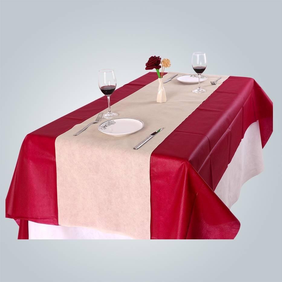Bordeaux TNT non woven tablecloth for party