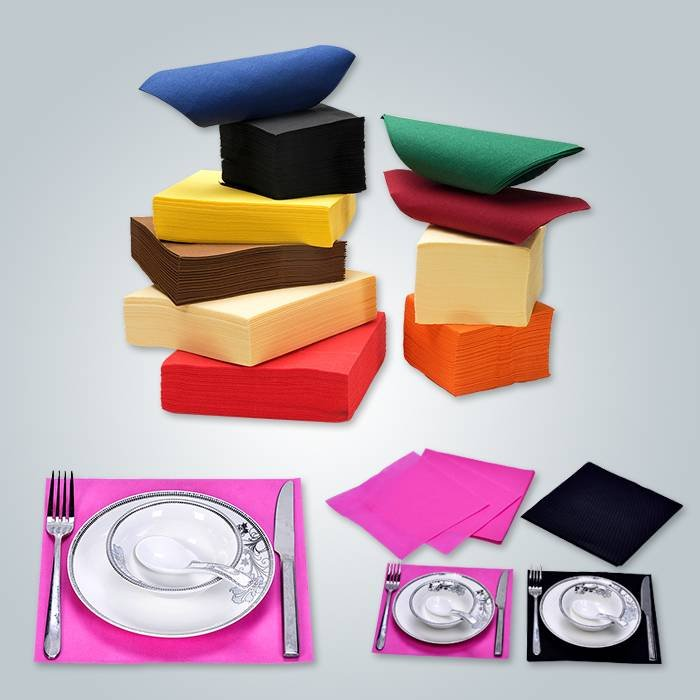 Different size and shape for non woven table cloth