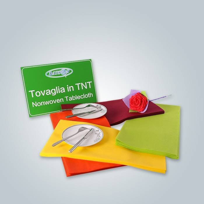 Burgundy / Orange / Green Nonwoven Tablecloth