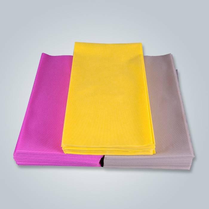 Yellow non woven table cloth