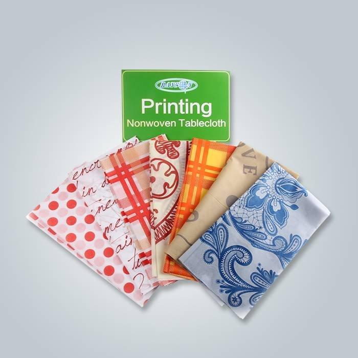 Quadratisches gedrucktes Tischdecke Spun-bonded Fabirc, Eco Polypropylen Spunbond