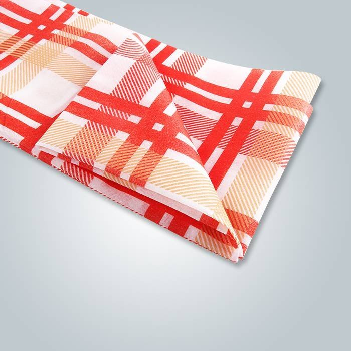 Linge de table de mariage Spunbond Tartan imprimé tissu de table