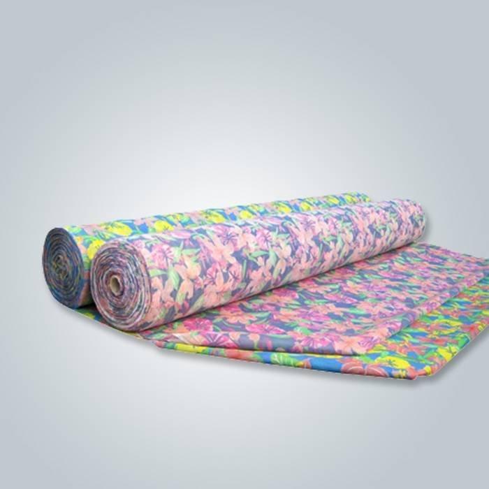 L'usine fournit directement le rouleau imprimé non-tissé de Spunbond de textile à la maison