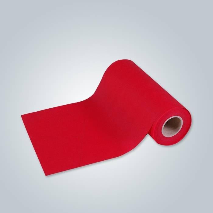 Tissu rouge non tissé