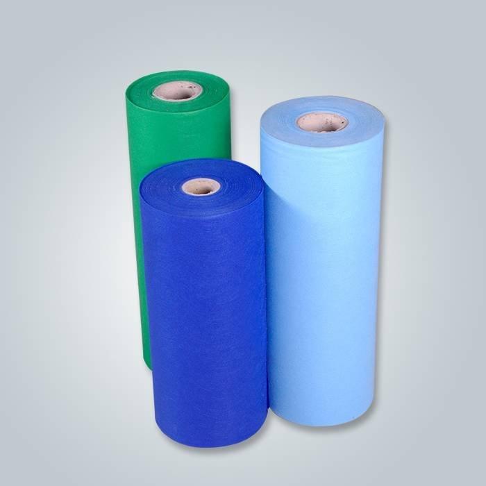 Tissu non-tissé hydrophobe de matériel frais de 100% pp