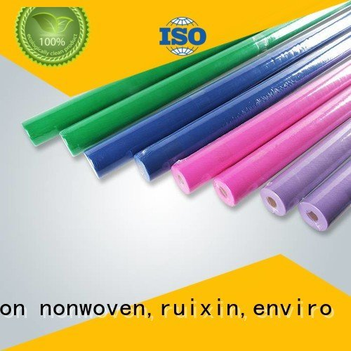 non woven polypropylene fabric suppliers 100 one OEM disposable table cloths rayson nonwoven,ruixin,enviro