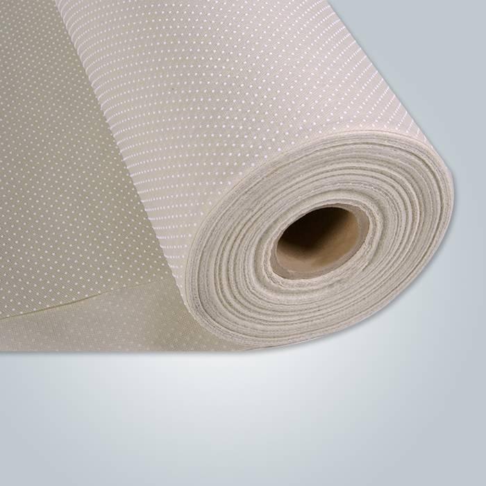 Tela no tejida punteada de los PP del PVC beige