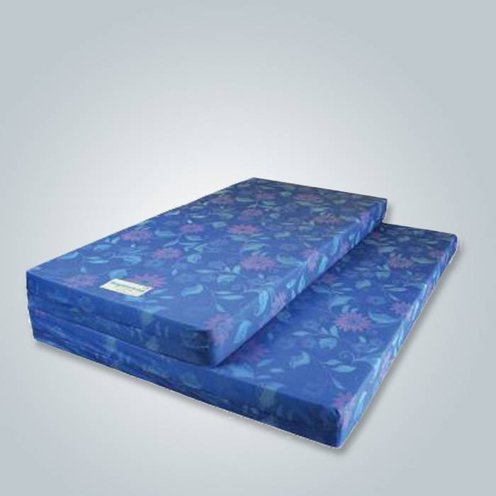Blue printing pattern non woven fabric
