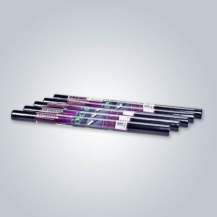 50gr noir spunbond weed barrière tissu non tissé