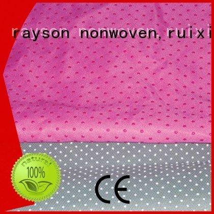rayson nonwoven,ruixin,enviro Brand skidproof non woven cloth manufacturers polypropylene fire