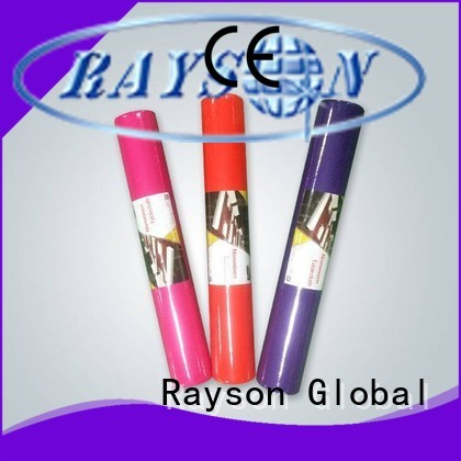 rayson nonwoven,ruixin,enviro Brand round shrink green stable tnt tablecloth