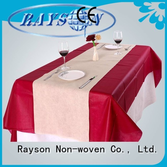 Quadrado dobrado cobre rayon não tecido, ruixin, enviro Marca não tecido toalha de mesa