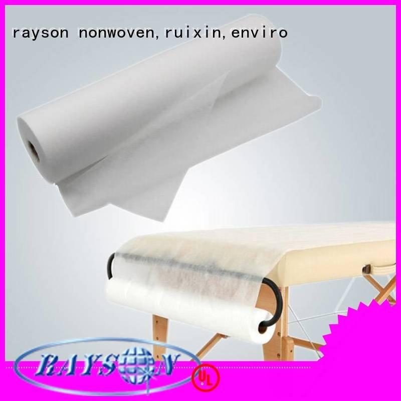 Wholesale hospital examination non woven textile rayson nonwoven,ruixin,enviro Brand