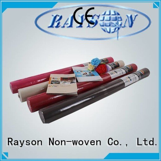 rayson nonwoven,ruixin,enviro Brand cloth weight spunbond disposable table cloths tableware