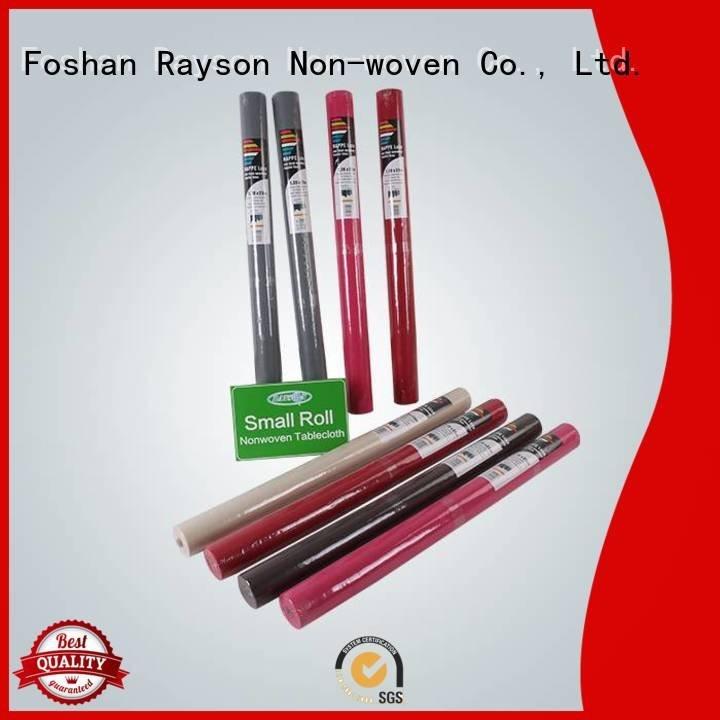 non woven polypropylene fabric suppliers sheets film OEM disposable table cloths rayson nonwoven,ruixin,enviro