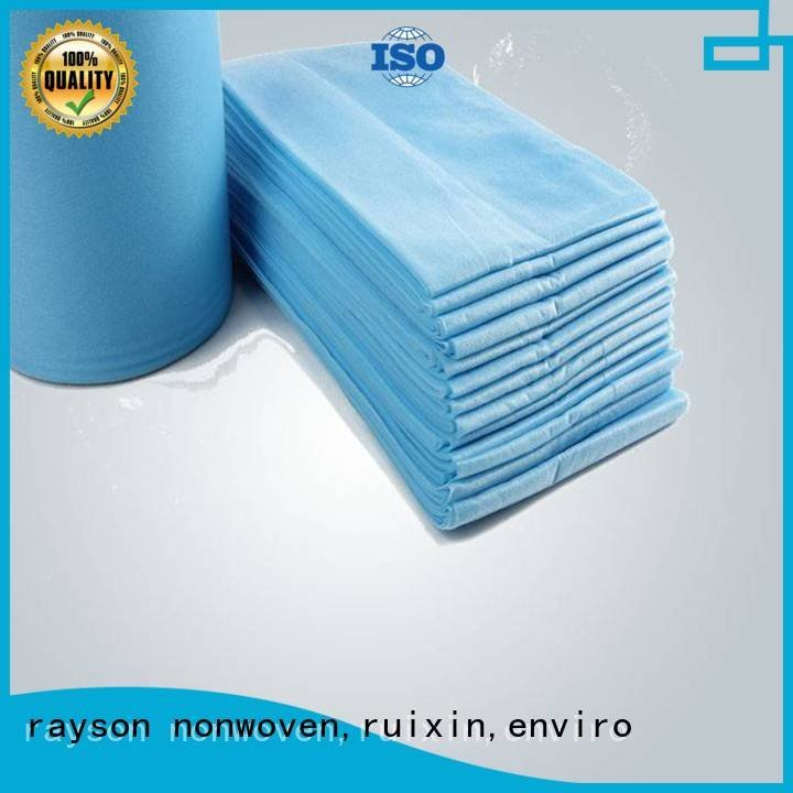 rayson nonwoven,ruixin,enviro non woven fabric used in agriculture massage white bedsheet antibacterial