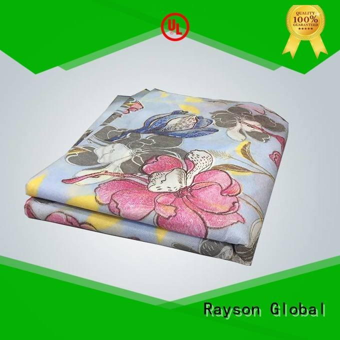 pp non woven fabric manufacturer customize rayson nonwoven,ruixin,enviro Brand printed table covers