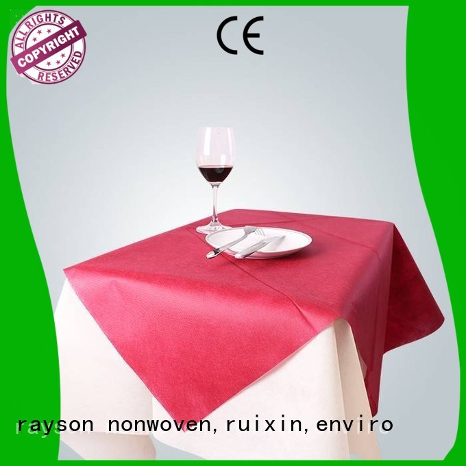 uniformidade não tecida vermelha dos rayon da uniformidade das cores da toalha de mesa, ruixin, empresa do enviro