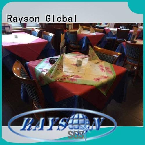 soft squra non woven tablecloth 3875gsm rayson nonwoven,ruixin,enviro