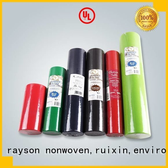 non woven polypropylene fabric suppliers polyester disposable table cloths rayson nonwoven,ruixin,enviro Brand