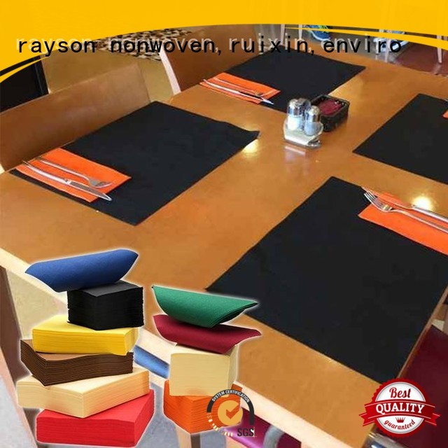 Qualidade rayon não tecido, ruixin, enviro marca squra raysons não tecido toalha de mesa