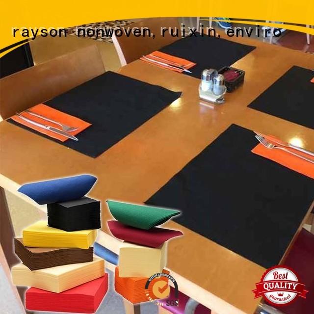Jakość rayon nonwoven, ruixin, enviro Brand squra raysons non woven tablecloth